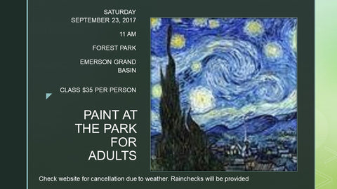 "September 23, 2017. Saturday 11 am-1 pm ""Starry Night"" DEADLINE TO SIGN UP FOR CLASS Public Paint and Wine Party St. Louis area"