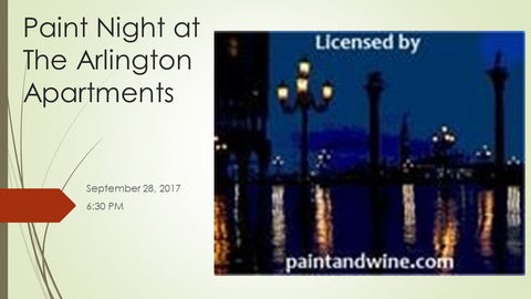 "September 28, 2017, 6:30 PM""Venice at Night"" Private Party  Wine & Paint Class in St. Louis"