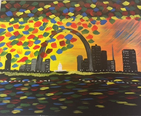 """Rainy Arch"" Public Wine & Paint Class in St. Louis s"