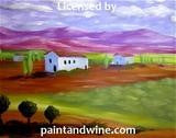 """Southern France"" Public Wine & Paint Class in St. Louis"
