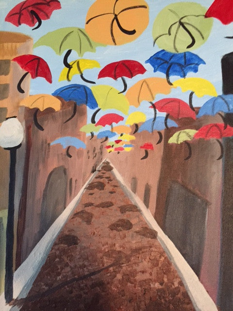 """Umbrella Street"" Public Wine & Paint Class in St. Louis"