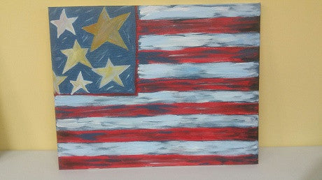 """Flag""  Public Wine & Paint Class in St. Louis"