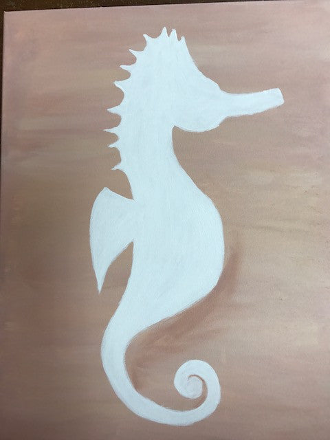 """Sea Horse"" Public Wine & Paint Class in St. Louis"