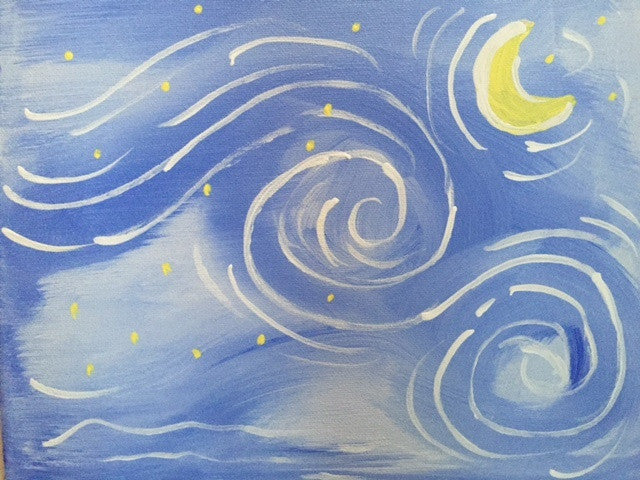 Simple Starry Night Public Kids Paint Class In St Louis Maryland Heights