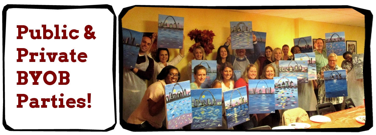 WIne, Painting, Canvas Classes Serving Creve Coeur, Maryland Heights, Bridgeton, Ballwin, Ladue, Chesterfield, St. Louis, Clayton, Rock Hill, Florrisant