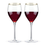 Belmont – Gold Rimmed Crystal Red Wine Glasses (set of 2) Wine Glasses WinecoolerMart