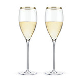 Belmont – Gold Rimmed Crystal White Wine Glasses (set of 2) Wine Glasses WinecoolerMart