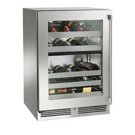 "Perlick 24"" Signature Series Dual Zone Wine Reserve/Cooler with stainless steel glass door Wine Coolers WinecoolerMart"