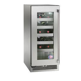 "Perlick 15"" Signature Series Single Zone Wine Reserve/Cooler with stainless steel glass door Wine Coolers WinecoolerMart"