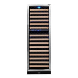 KingsBottle 164-Bottle Sleek Dual Zone Wine Cooler Wine Coolers WinecoolerMart