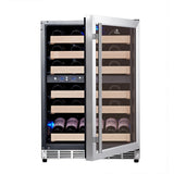 KingsBottle 46 Bottle Dual Zone Wine Cooler Wine Coolers WinecoolerMart