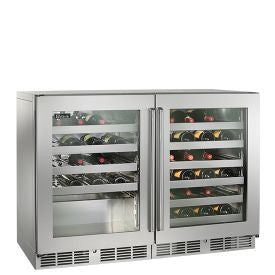 "Perlick 48"" Signature Series Dual Zone Wine Reserve/Cooler - Left and right fully integrated glass doors Wine Coolers WinecoolerMart"