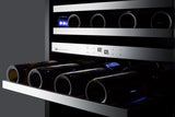 Summit CL24WC2 Classic Collection 46 Bottle Dual Zone Wine Cooler Wine Coolers WinecoolerMart