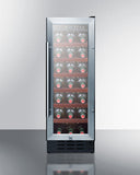 Summit SWC1224 21 Bottle Single Zone Undercounter Wine Cooler Wine Coolers WinecoolerMart
