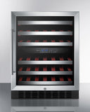 Summit SWC530LBIST 46 Bottle Dual Zone Wine Cooler Wine Coolers WinecoolerMart
