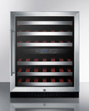 Summit SWC530LBISTADA 46 Bottle Dual Zone Wine Cooler – ADA Compliant Wine Coolers WinecoolerMart