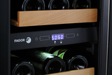 "Fagor WC-28DZ 15"" 28 Bottle Dual Zone Wine Cooler Wine Coolers WinecoolerMart"
