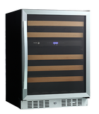 "Fagor WC-46DZ 24"" 46 Bottle Dual Zone Wine Cooler Wine Coolers WinecoolerMart"