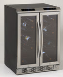 Avanti 38 Bottle Side-by-side Dual Zone Wine Cooler Wine Coolers WinecoolerMart