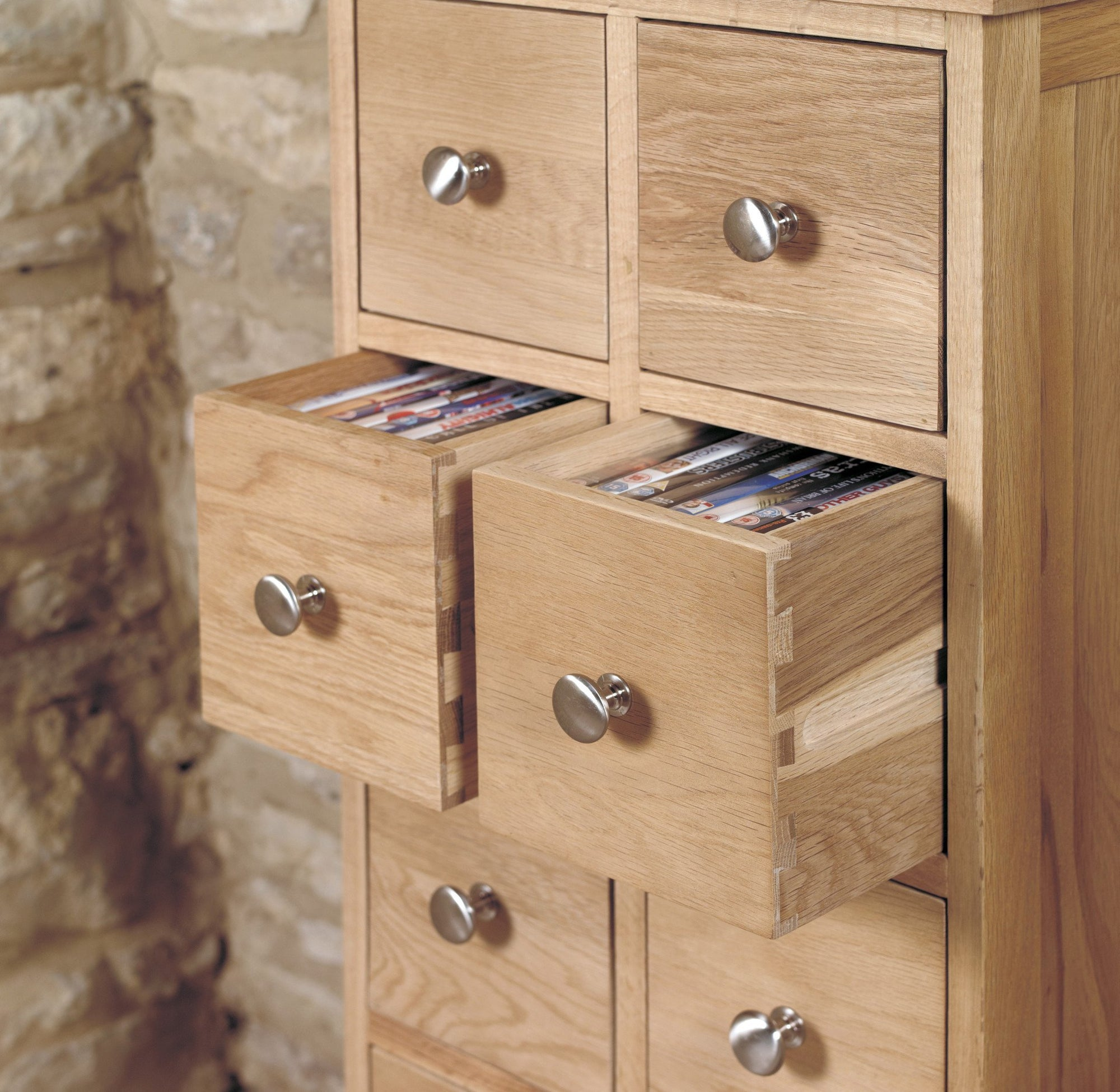 Oak and Wooden CD and DVD Storage