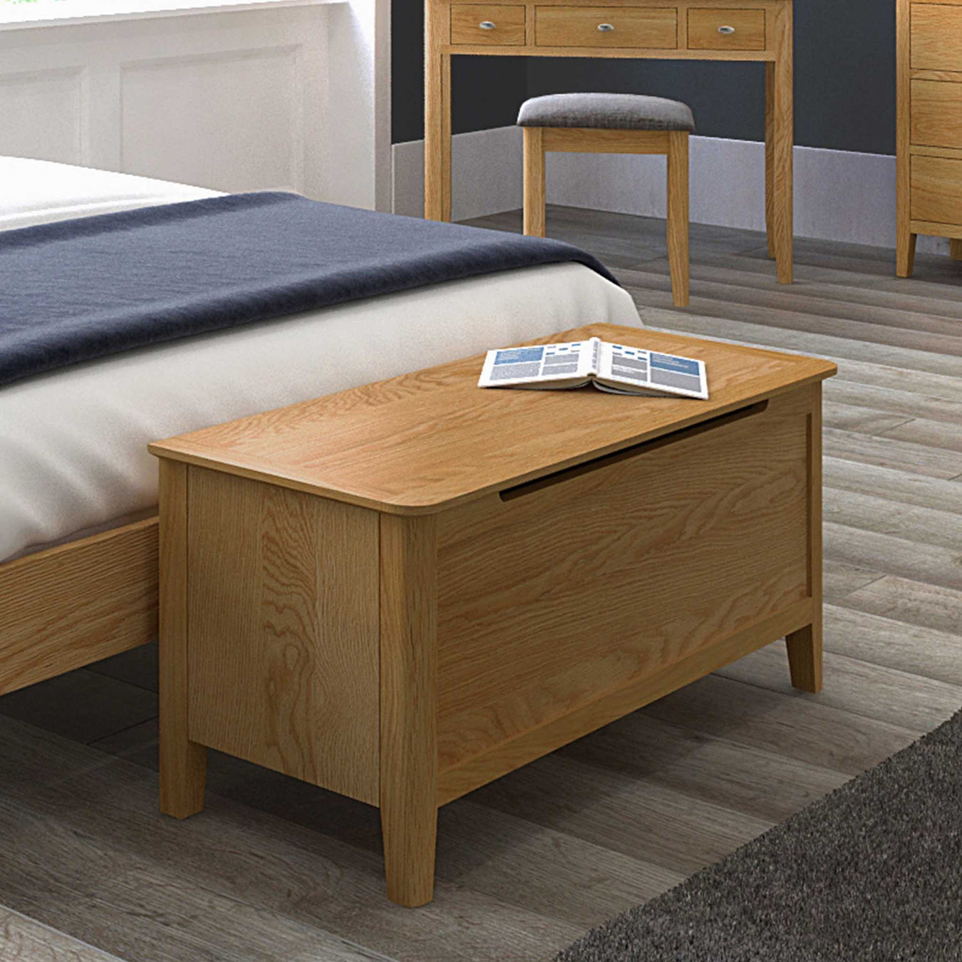 Oak & Solid Wood Blanket Boxes & Toy Boxes - Roseland Furniture