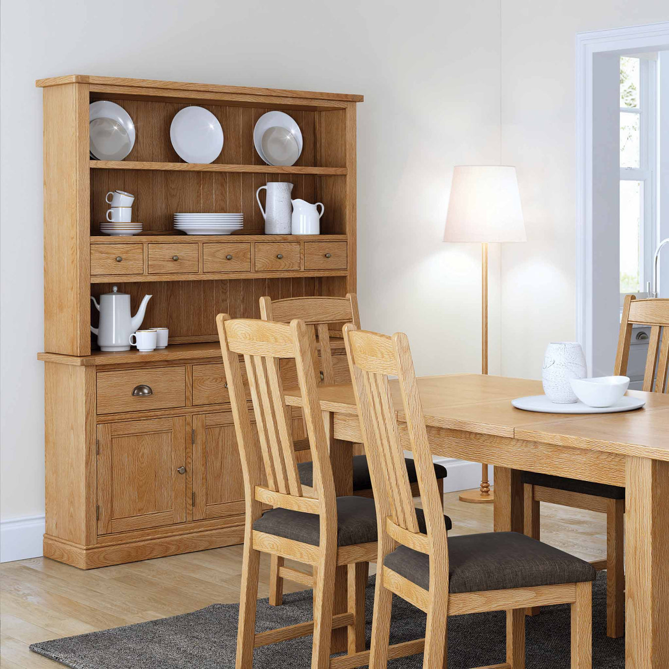 Oak and Wooden Dresser