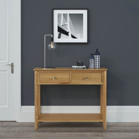 Alba Oak Console Table | Roseland Furniture