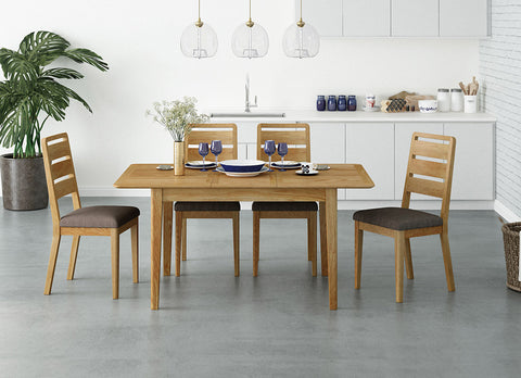 Alba Oak Flip Top Dining Table and Chairs | Roseland Furniture