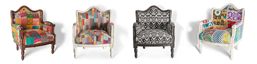 Kantha Chairs in 4 Colours | Roseland Furniture