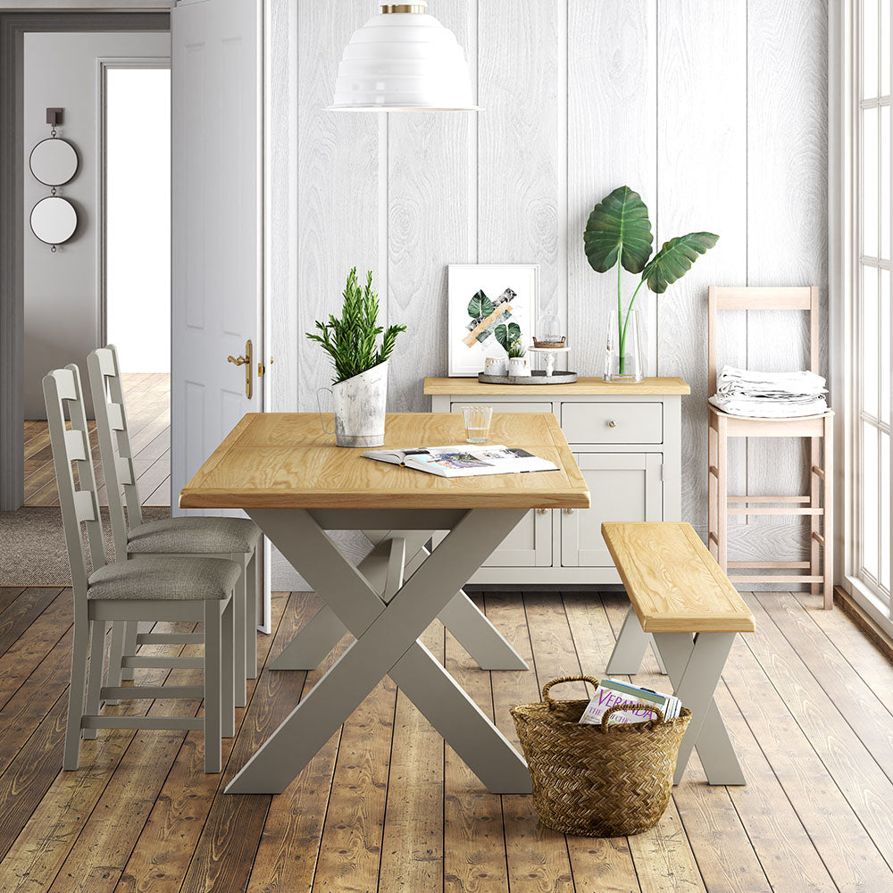 Lundy Grey Dining Room | Roseland Furniture