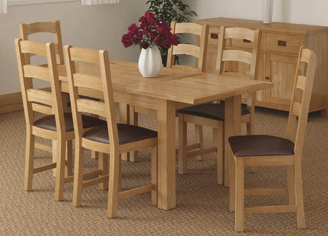 Oak dining table & chairs | Roseland Furniture