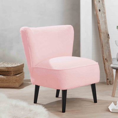 Malmesbury Teddy Accent Chair - Baby Pink