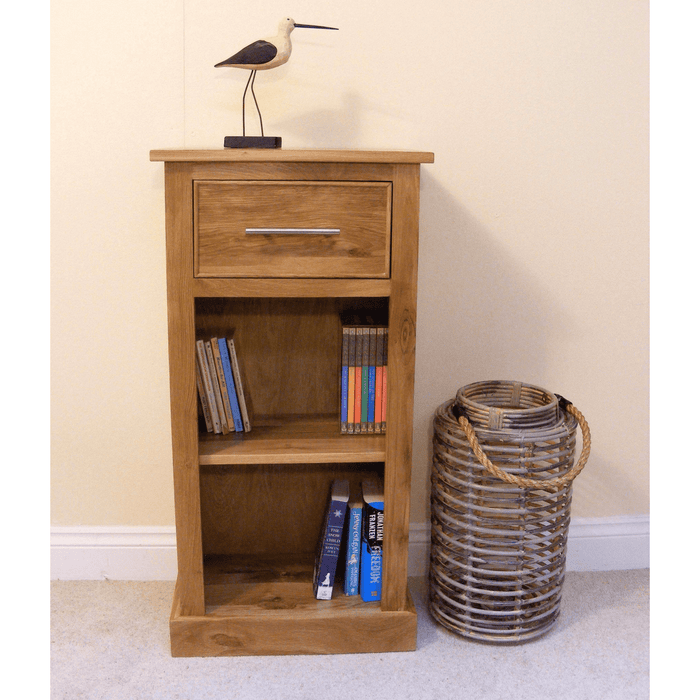 Stratton Oak Narrow Bookcase