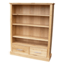 Stratton Oak Low Lounge Bookcase