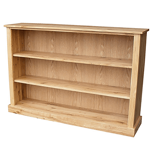 Stratton Oak Low Wide Bookcase