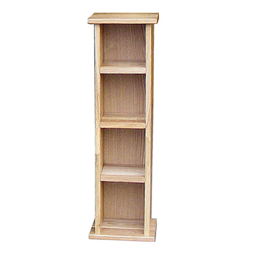 Stratton Oak Low Column Bookcase
