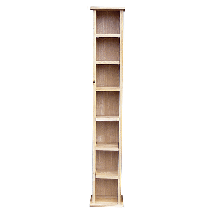 Stratton Clear Matt Lacquer Solid Oak Tall Cd Rack Roseland Furniture