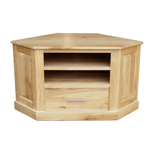 Stratton Oak Corner TV Stand