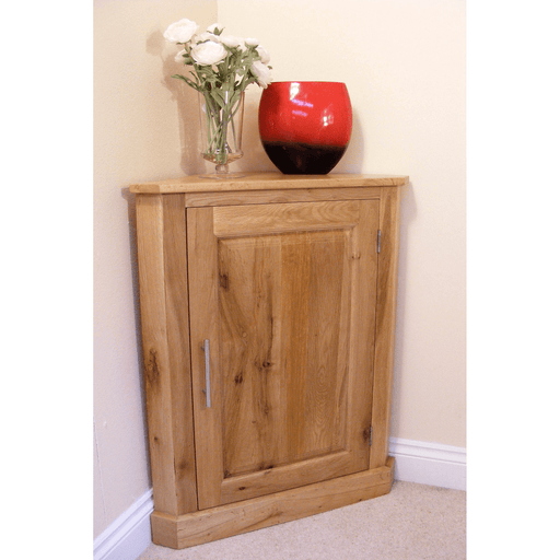 Stratton Oak Corner Cupboard