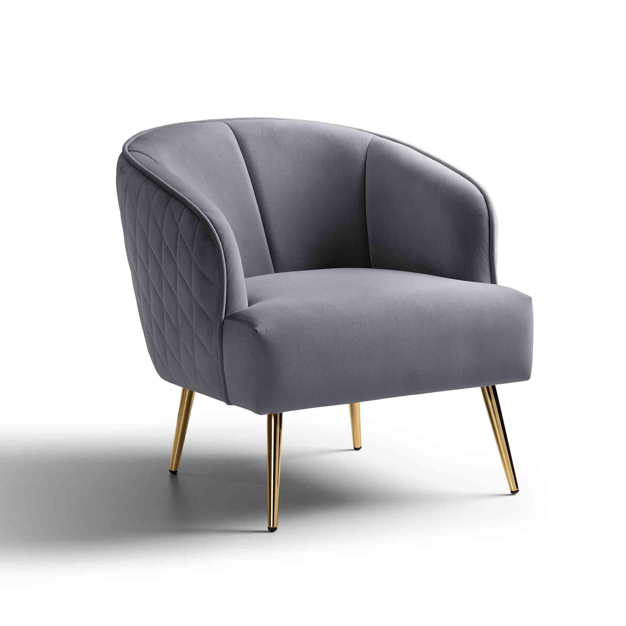 Myla Velvet Accent Chair - by Roseland Furniture