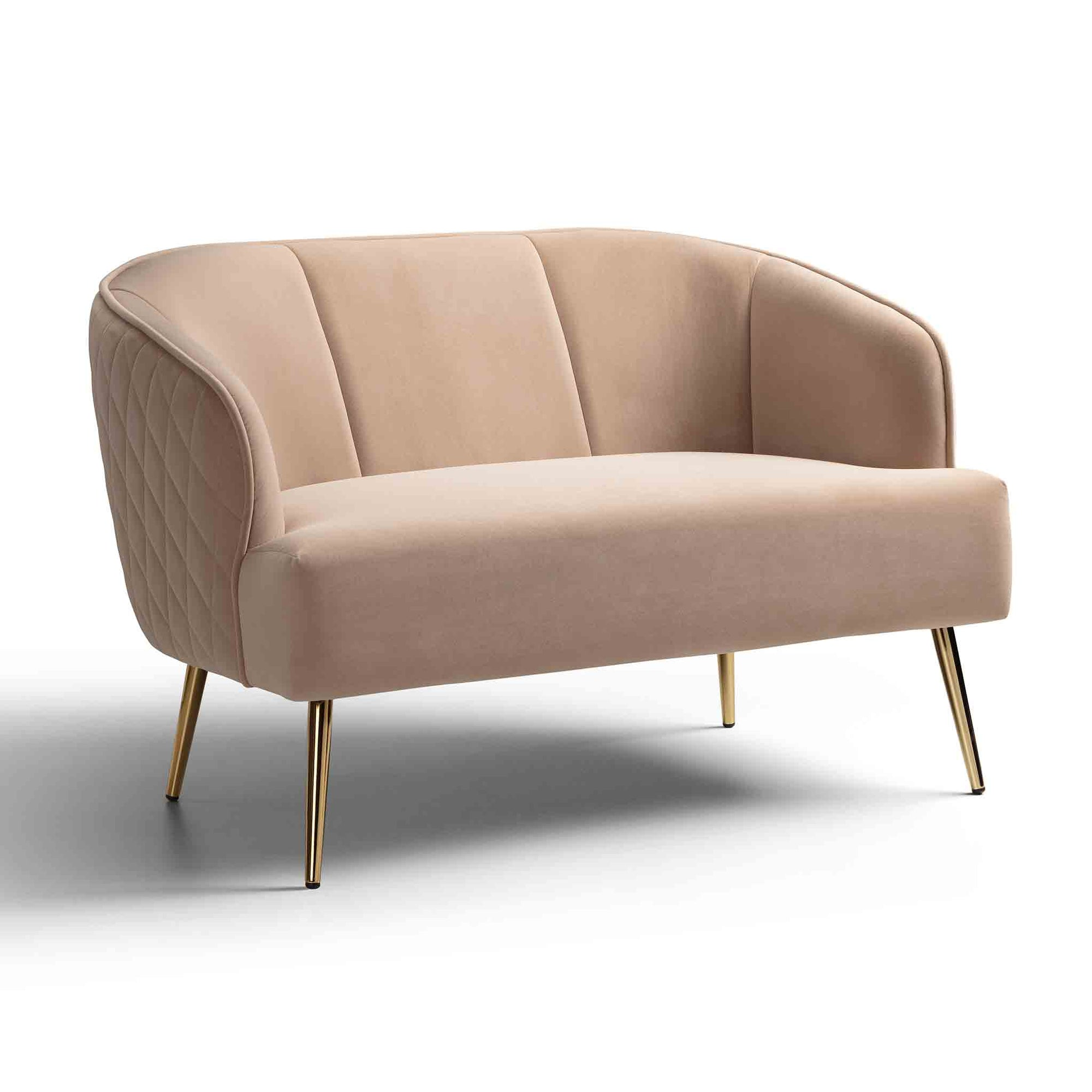 Myla Almond Two Seater Chair from Roseland Furniture
