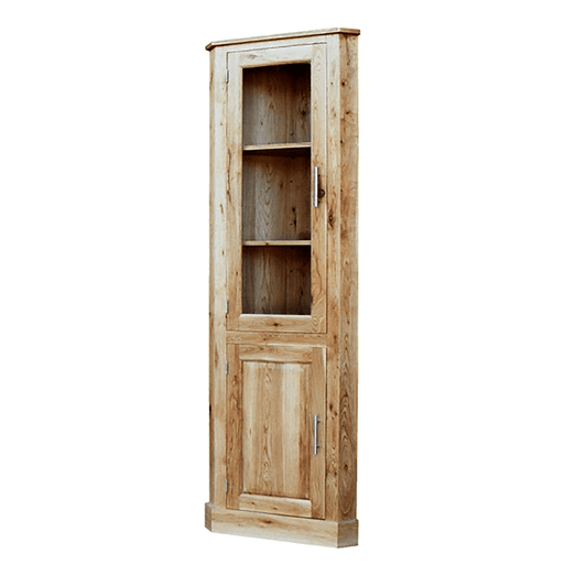 Stratton Oak Glazed Corner Unit