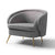 Bentley Grey Faux Leather Armchair
