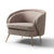 Bentley Pewter Faux Leather Armchair