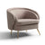 Bentley Pewter Faux Leather Accent Chair