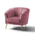 Adele Accent Chair - Rose