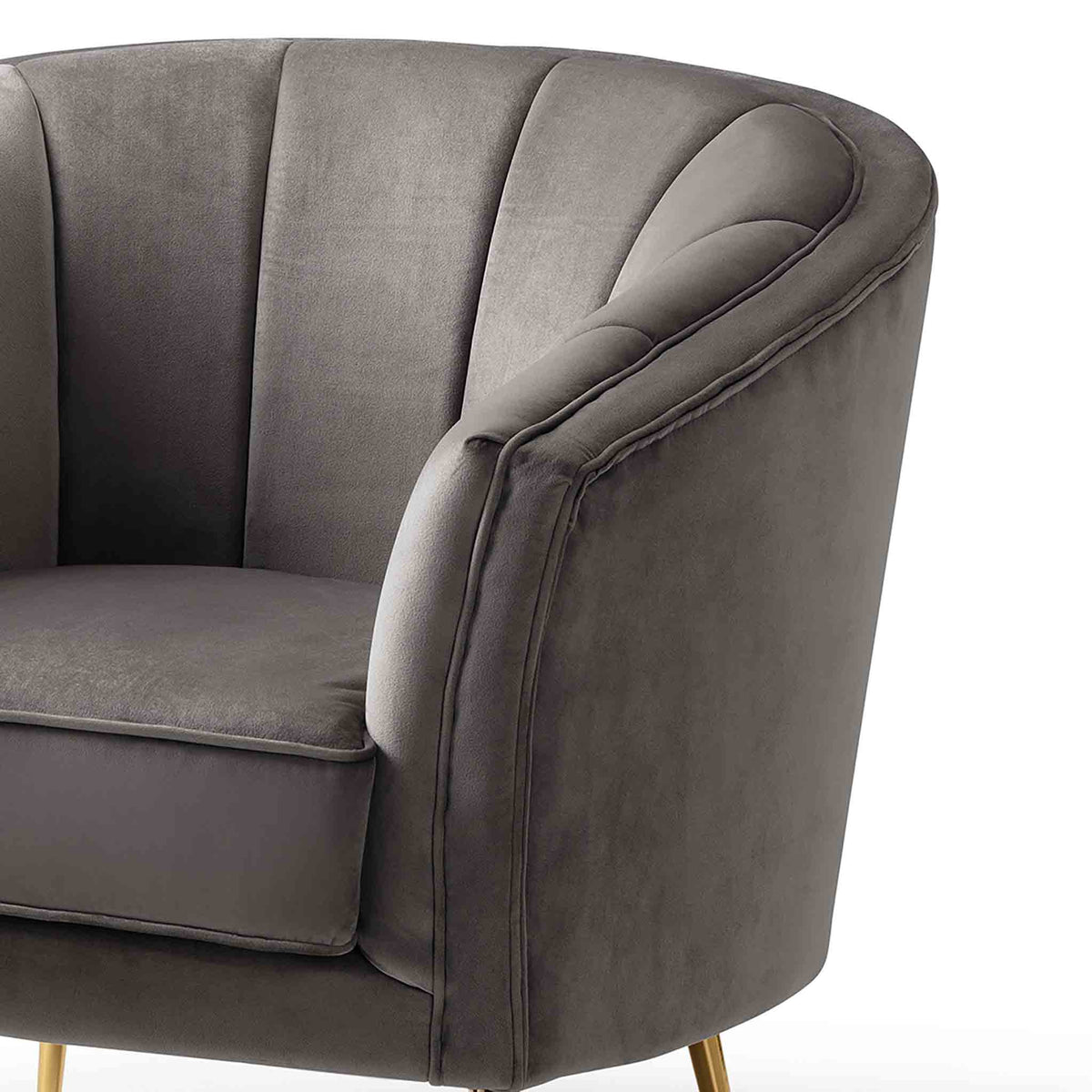 Adele Accent Chair - Fossil Grey