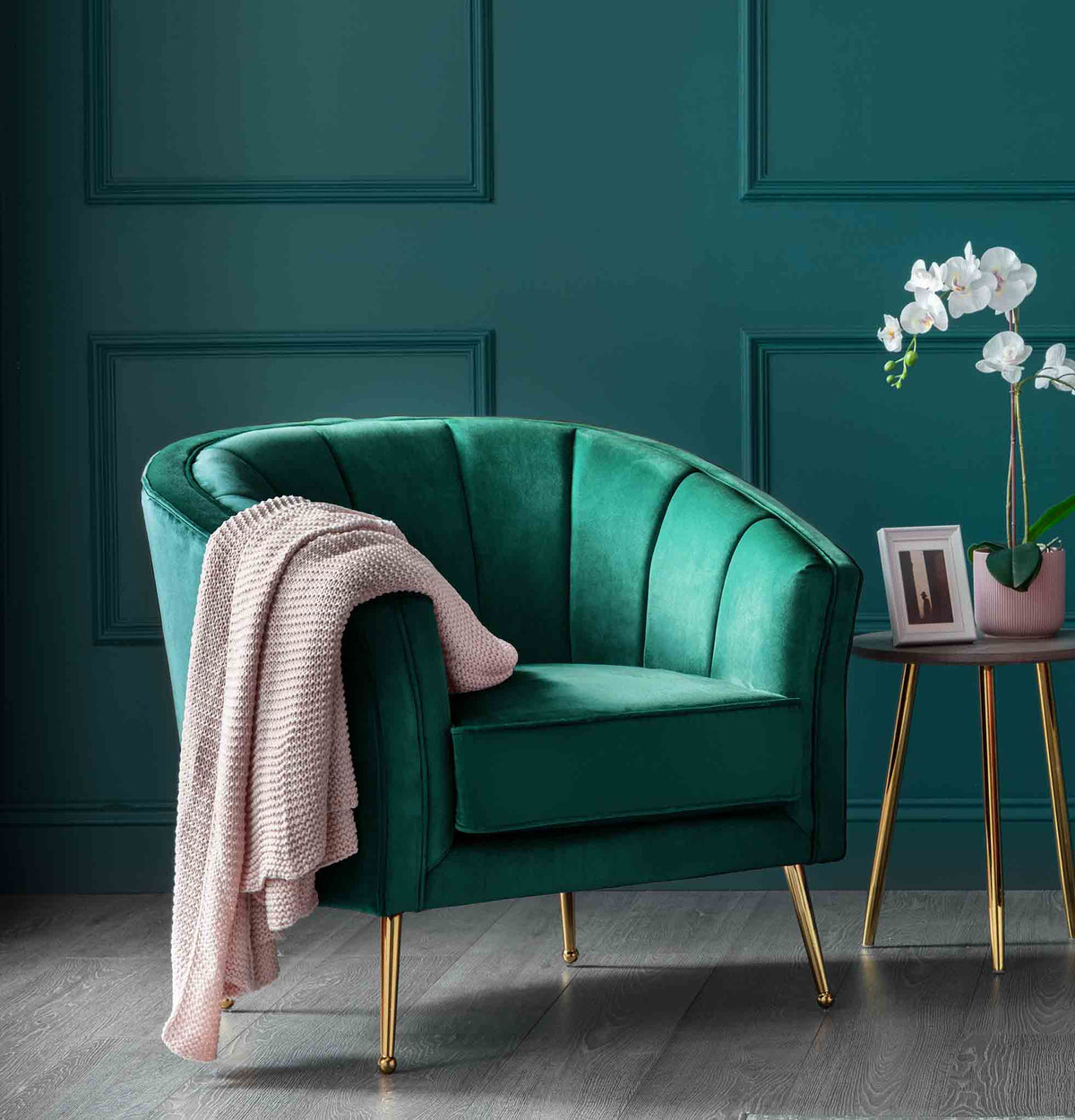 Adele Accent Chair - Hunter Green