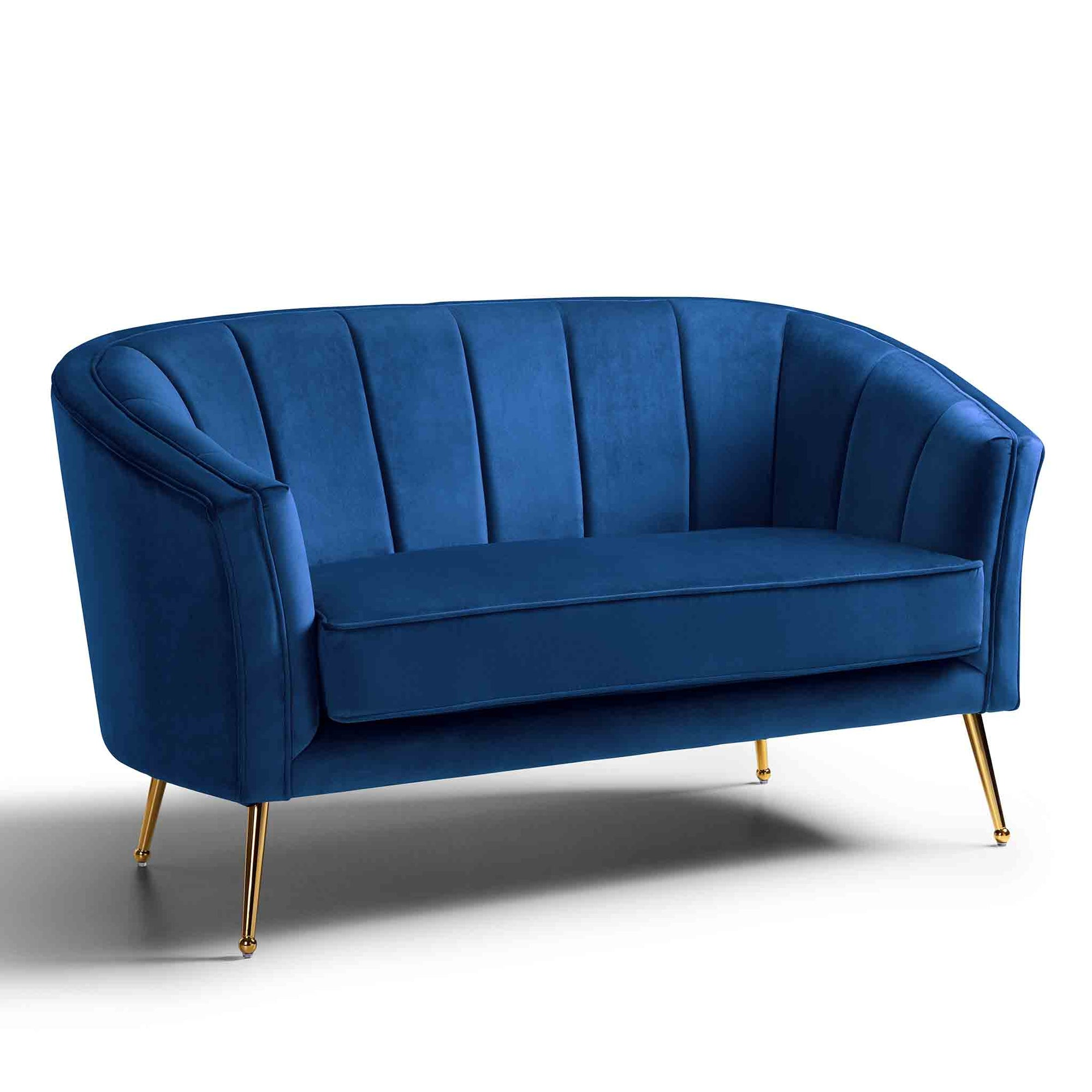 Adele Two Seater Accent Chair - Royal Blue