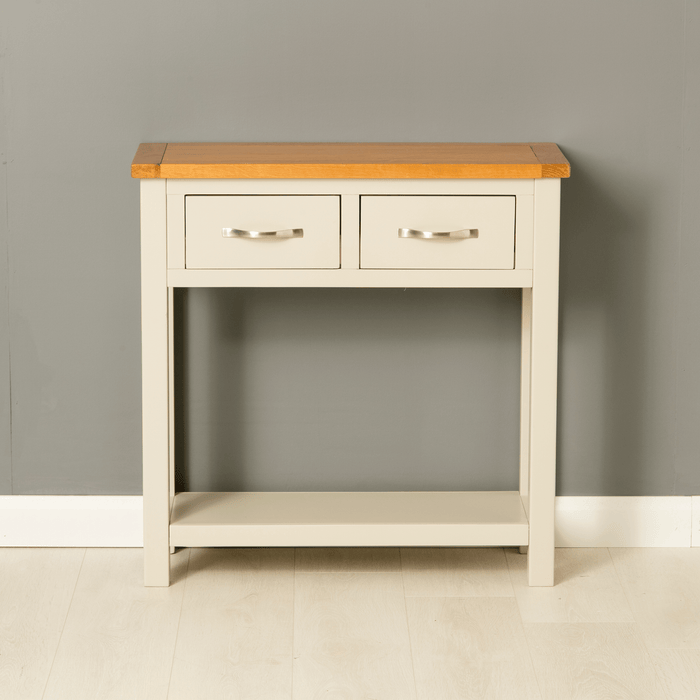 Mullion Grey Console Table